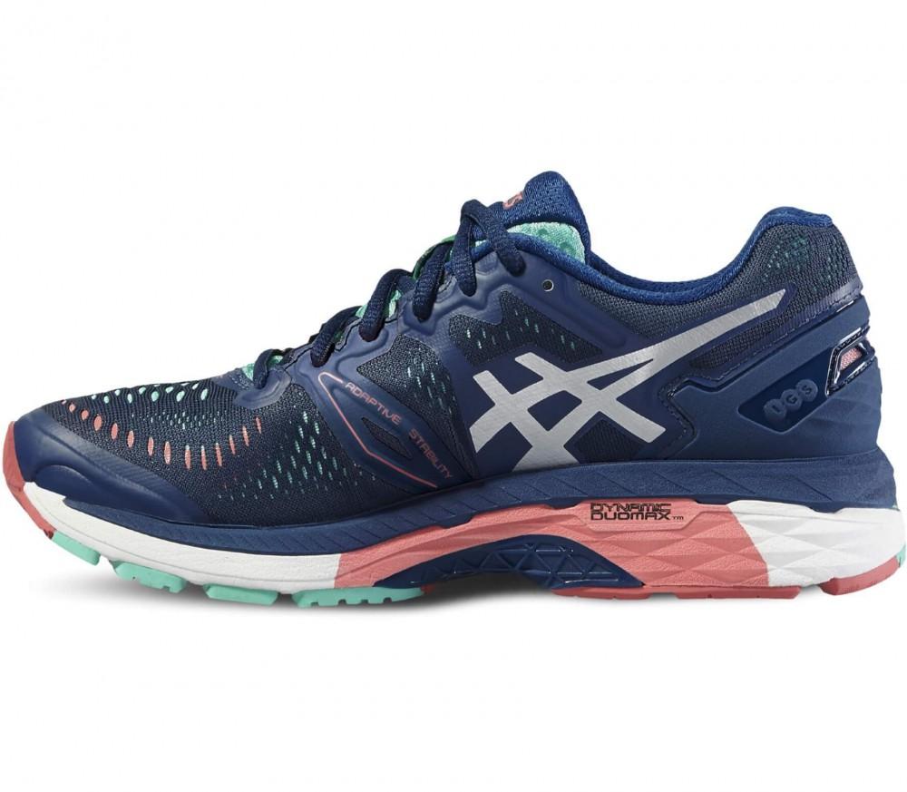 asics gel kayano 23 women 39 s running shoes dark blue light red k b online hos keller sports. Black Bedroom Furniture Sets. Home Design Ideas