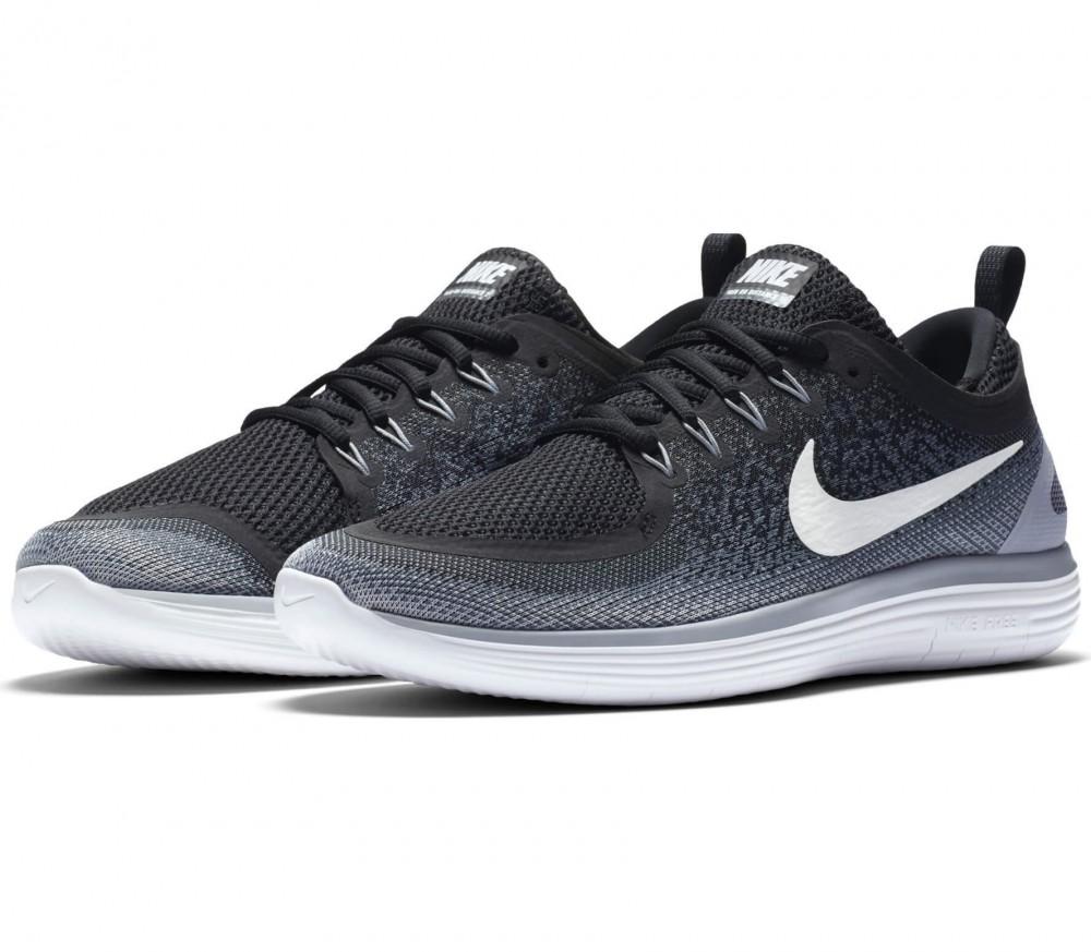 nike free rn distance 2 men 39 s running shoes black white. Black Bedroom Furniture Sets. Home Design Ideas